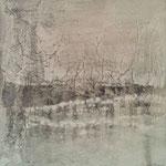 Wasser-/Winterlandschaft - Gesteinsmehle 50 x 50 cm, 2013