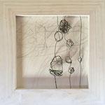 Singende Blumenwiese - Draht und Papier, 10 x 10 cm, 2017