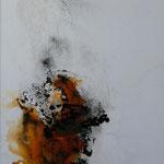 Ausbruch II - Acryl Mischtechnik mit Schellack und Pigmenten auf Malpappe 50 x 70 cm, 2015