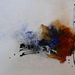 Acryl Mischtechnik mit Schellack und Pigmenten auf Papier 40 x 30 cm, 2015