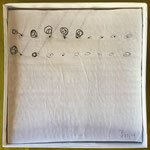 Punktuell - Draht und Papier, 10 x 10 cm, 2017