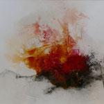 Magma II - Acryl Mischtechnik mit Schellack und Pigmenten auf Papier 40 x 30 cm, 2015
