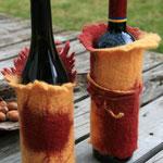 Weinflaschendeko