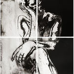 """ Aspetta"", 2012  acquaforte e acquatinta 80x80 cm"