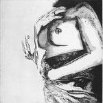 """"""" Vergogna"""", 2012  acquaforte e acquatinta 50x50cm"""