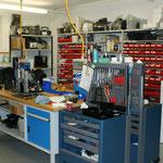 Werkstatt mit grossem Ersatzteil-Lager, für einen schnellen Service (Vollautomaten-Service nur für Jura Maschinen)