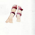 spanische Sandalenfüße Granada April 13