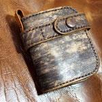 (オーダー)お客さまの折り財布にウォレットチェーン用のループ取り付け愛知県名古屋市A様Waioli14038