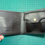 折り財布の中(カード+小銭入れ)お千代保稲荷手作り革工房Waioli