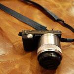カメラストラップ手作り革工房Waioli(青色)1405