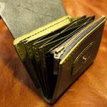 (オーダーメイド)カード&小銭入れ緑×黒岐阜県岐阜市T様Waioli14073