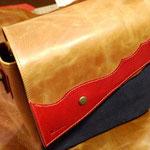 (オーダー)帆布×革のショルダーバッグ岐阜県神戸町RさんWaioli14058-1