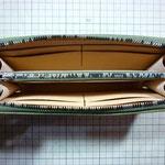 ラウンドファスナーロングウォレットお千代保稲荷手作り革工房Waioli(グリーン)