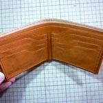 折り財布(カード+カード)お千代保稲荷手作り革工房Waioli