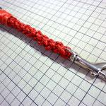 四つ編みのキーホルダー(赤)愛知県一宮市G様おちょぼさん手作り革工房Waioli1302
