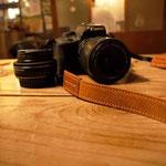 カメラストラップ手作り革工房Waioli(茶色)1405