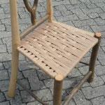 """Wildholzstuhl """"Floh"""" für den Esstisch, Esche, Sitzfläche aus Dänischer Papierschnur gewebt, 2015"""