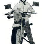 バイクの男