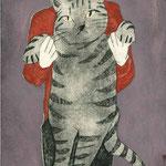 大きなトラ猫
