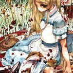 「アリスの食卓」午後三時の鐘が鳴る。アンハッピーバースディティータイム。