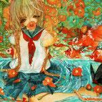 「ノウゼンカズラの恋」片思い、蔦を伸ばして絡ませて。決して届きはしないけれど…。