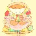 モクハツカさんがお誕生日にモクハツカさん宅のテア嬢を描いてくださりました!有難うございます!!リンクのモクハツカさんのHPも素敵です…!