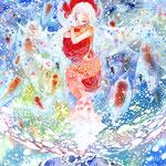 「クリオネ」ぶくぶくぶく…悲しみに沈む人魚の魂、クリオネが空へと運びます。