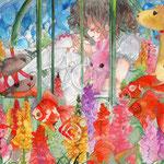 『金魚草×観覧車』
