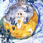 「白熱月球」星に還る、月になる。