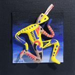 Le faune électrique- 10 x 10 cm -2015