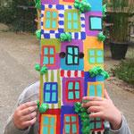 Masque maison inspiré par Hundertwasser