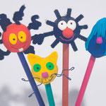 Embouts de crayons inspirés de Petit Poilu la planète Coif'Tif