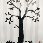 Sumi-e : un arbre au pinceau chinois