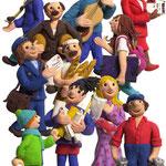 personnages pour des santons