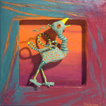 L'oiseau moqueur-20 x 20 cm -2015