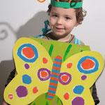 Costume de chenille ou de papillon (recto et verso)