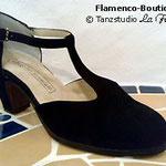 Flamenco-Tanzschuh (Herst.: B. Cervera / Modell: CLÁSICO ESPAÑOL in Wildleder)