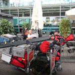 unser Gepäck am Flughafen Oslo