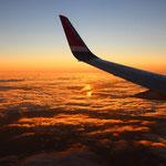 Der Sonne entgegen ging es mit Norwegian Airlines