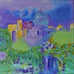 Impressionen Samarkand 1, Öl, Leinen, 70 x 70 cm