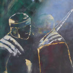 Die Verschwörung, Öl, Leinen, 80 x 60 cm