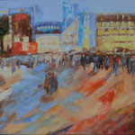 Impressionen Tokio, Öl, Leinen, 100 x 120 cm