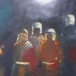 Hinterhalt, Öl, Leinen, 120 x 100 cm