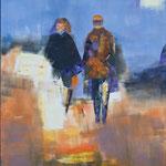 Großstadtlichter, Öl, Leinen, 100 x 80 cm