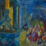 Kultur(t)raum 1, Öl, Leinwandfoto, 70 x 100 cm
