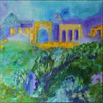 Impressionen Samarkand 2, Öl, Leinen, 70 x 70 cm