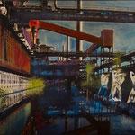 Kultur(t)raum3, Öl, Leinwandfoto, 70 x 105 cm