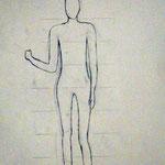 Körperstudie 3,  Birgit Rieder, 7Bb 2014/15
