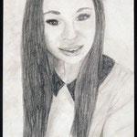 Selbstporträt, Bleistift auf Papier, 6Bb 2013/14_ Birgit2