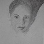 Selbstporträt, Bleistift auf Papier, 6Bb 2013/14_ Birgit1